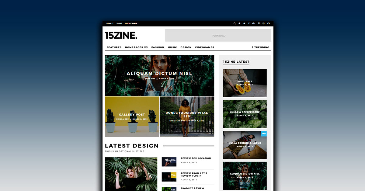 WordPress Newspaper Themes 15Zine Newspaper WordPress Theme