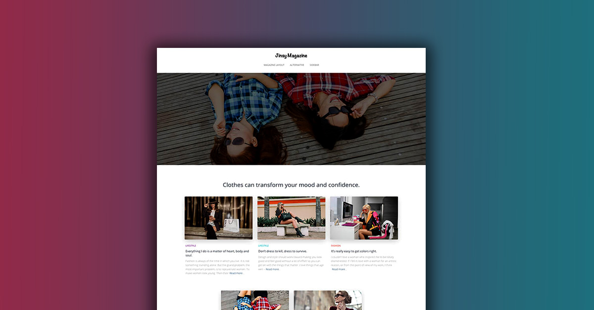 WordPress Newspaper Themes Jinsy Magazine